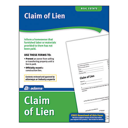 Adams® Claim of Lien