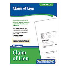 Adams Claim of Lien