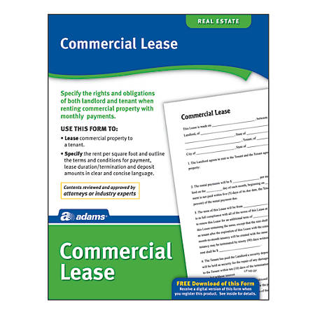 Adams Commercial Lease by Office Depot OfficeMax – Commercial Lease