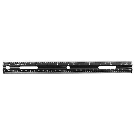 Westcott® Plastic 30% Recycled Ruler, 12