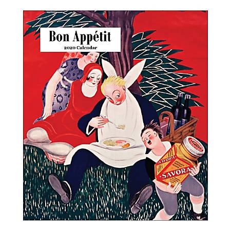 "Retrospect Bon Appétit Monthly Desk Calendar, 6-1/4"" x 5-1/2"", January To December 2020, YCD 080-20"