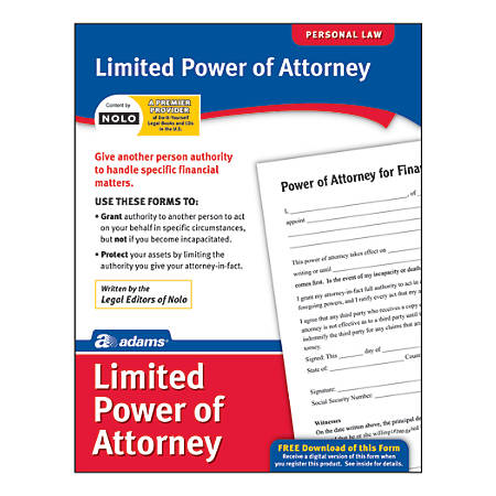 Adams Limited Power Of Attorney By Office Depot Officemax