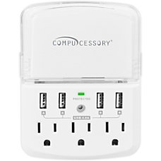 Compucessory 3 Outlet4 USB Wall Charger