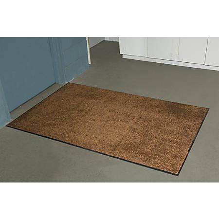 Tri-Grip Floor Mat, 3' x 5', Browntone