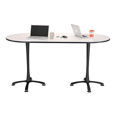 "Safco® Cha-Cha™ 42""W Teaming Table With Dry-Erase Top, White/Black"