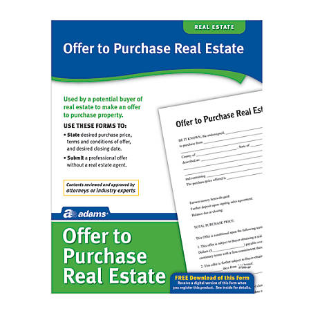 Adams® Offer To Purchase Real Estate