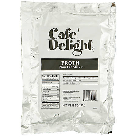 Café Delight Frothy Topping, 12 Oz, Pack Of 8