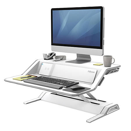 Fellowes® Lotus™ DX Adjustable Sit-Stand Workstation, White