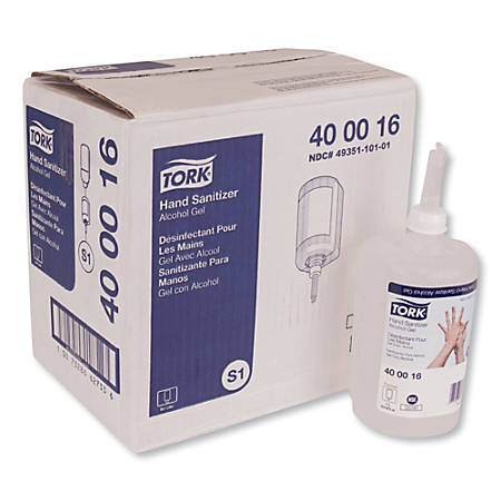 Tork Alcohol Gel Hand Sanitizer, 33.81 Oz Bottle, Carton Of 6 Bottles