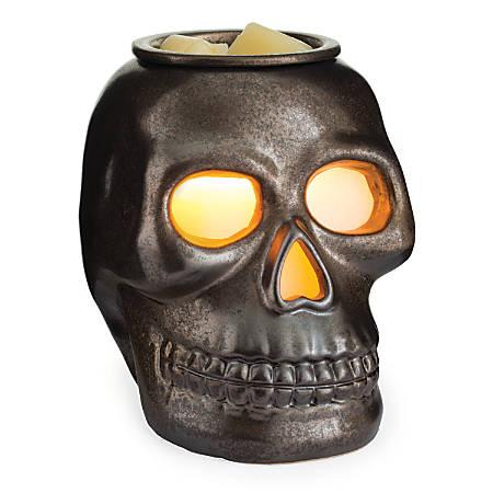 "Candle Warmers Etc Illumination Fragrance Warmer, 8-13/16"" x 5-13/16"", Skull"