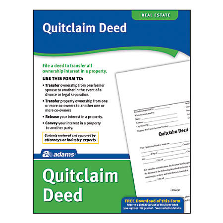 Adams quitclaim deed by office depot officemax adams quitclaim deed thecheapjerseys Choice Image