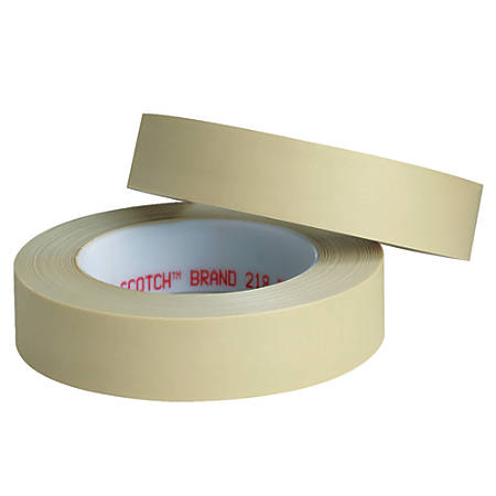 "3M™ 218 Masking Tape, 3"" Core, 1"" x 180', Green, Pack Of 3"