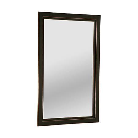 """Southern Enterprises Vogue Wall Mirror, 36"""" x 22"""", Black/Copper"""
