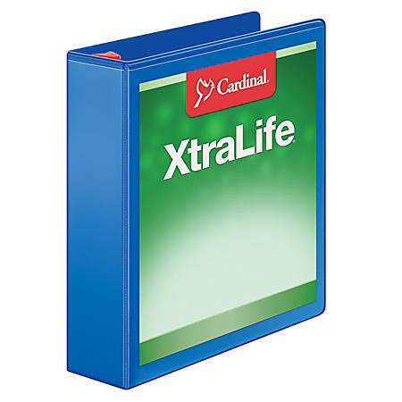 """Cardinal® XtraLife® Locking Slant-D® Ring Binder, 2"""" Rings, 52% Recycled, Black"""