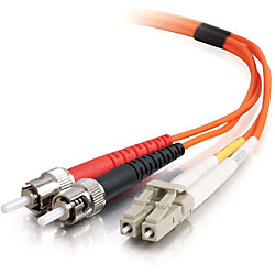 C2G-2m LC-ST 62.5/125 OM1 Duplex Multimode PVC Fiber Optic Cable (LSZH) - Orange