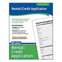 Adams RentalCredit Application