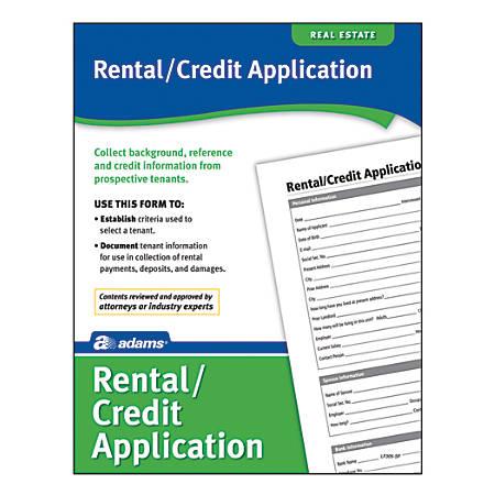 Adams® Rental/Credit Application