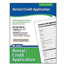 Adams RentalCredit Application
