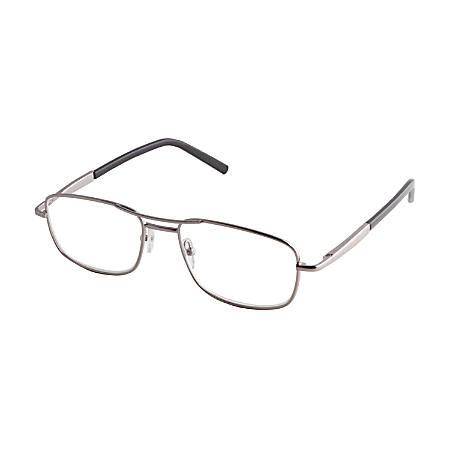 ICU Eyewear DDE Men's Reader Glasses, Silver, +1.50