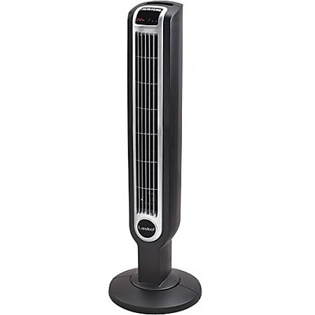 "Lasko 2511 Tower Fan with Remote Control - 3 Speed - Remote, Programmable, Oscillating, Comfortable Handle - 36"" Height x 12"" Width"