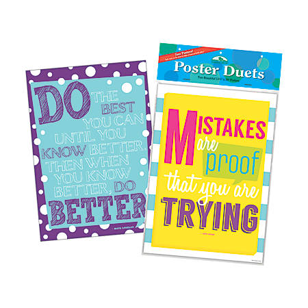 Barker Creek® Poster Duet Set, Keep Trying, Pack Of 2