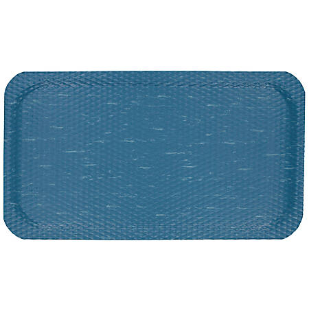 "Hog Heaven Marble Top Floor Mat, 7/8"" Thick, 4' x 6', Blue Merle"