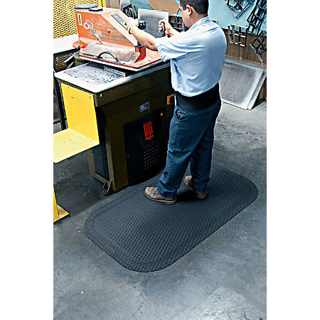 "Hog Heaven Floor Mat, 5/8"" Thick, 3' x 5', Black"