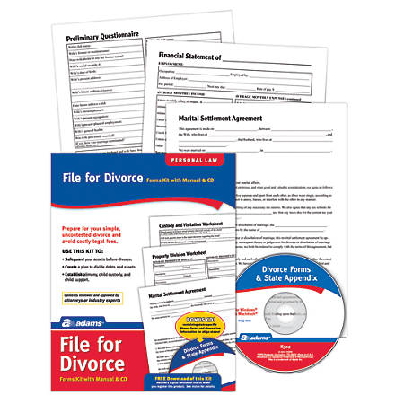 Adams divorce kit by office depot officemax adams divorce kit solutioingenieria Image collections