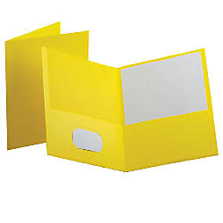 Oxford Twin Pocket Portfolios Yellow Pack