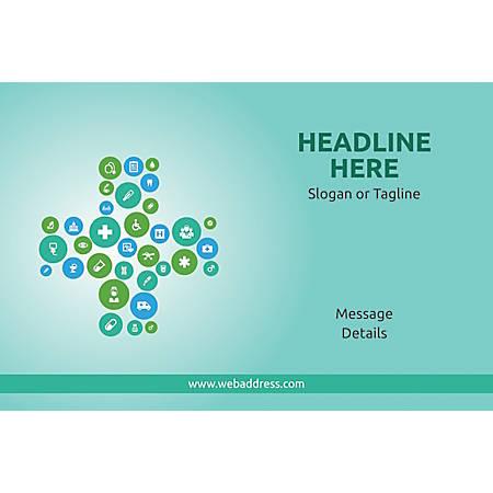 Adhesive Sign, Health Icons, Horizontal