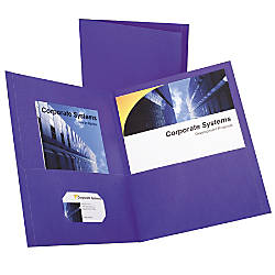 Oxford Twin Pocket Portfolios Purple Pack