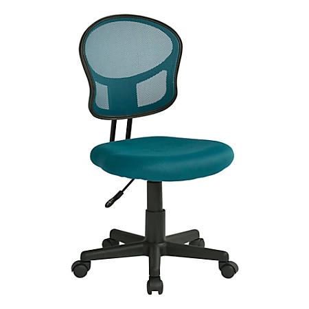 Office Star™ Mesh Mid-Back Task Chair, Blue