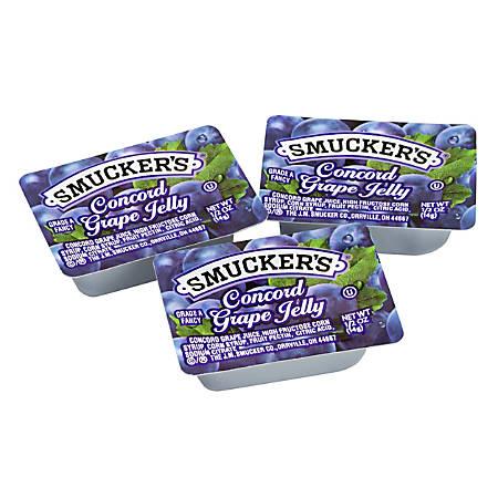 Smucker's Single-Serve Jam Packs, Concord Grape, 0.5 Oz, Pack Of 200 Tubs