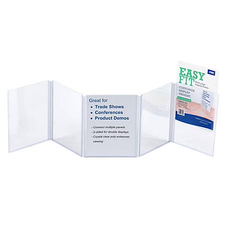 "EasyFit Presentation Display Panel, 5-Pocket, 8 1/2"" x 11"", Clear"