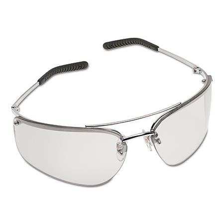 Metaliks Safety Eyewear, Indoor/Outdoor Mirror Lens, HC, Silver Frame, Metal