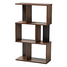 Baxton Studio Adelina Display Bookcase Walnut
