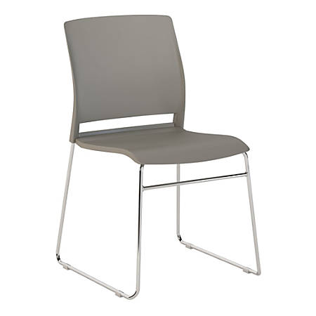Bush Business Furniture Corporate Stackable Chairs, Set of 2, Gray, Premium Installation