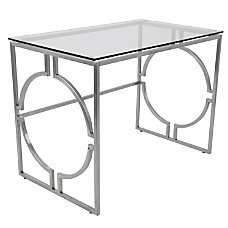 Lumisource Dynasty Contemporary Desk Stainless Steel