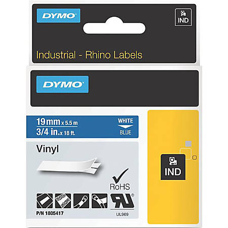 DYMO® White on Blue Color Coded Label, LJ7442