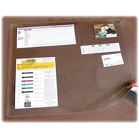 "Artistic Second Sight Clear Desk Protectors - Rectangle - 40"" Width x 25"" Depth - Plastic - Clear"