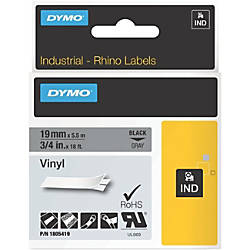 Dymo Black on Gray Color Coded
