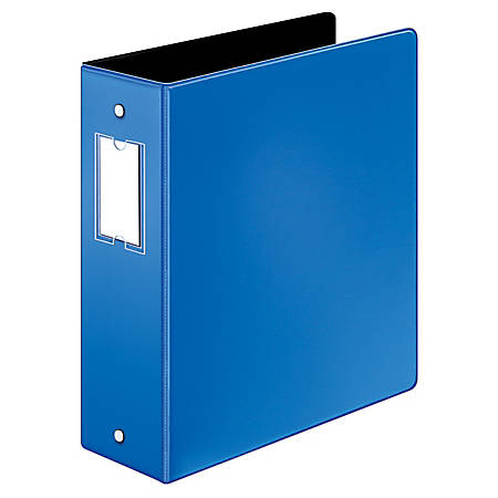 """Cardinal® EasyOpen® Binders, With Premier Locking Round-Ring, 3"""" Rings, 60% Recycled, Blue"""