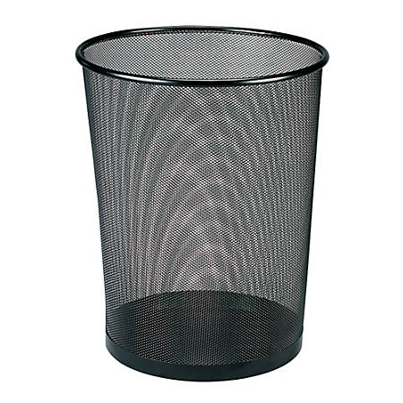 Brenton Studio™ Metro Mesh Wire Wastebasket, Black