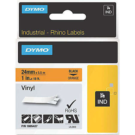 DYMO® Black on Orange Color Coded Labels, LJ7431