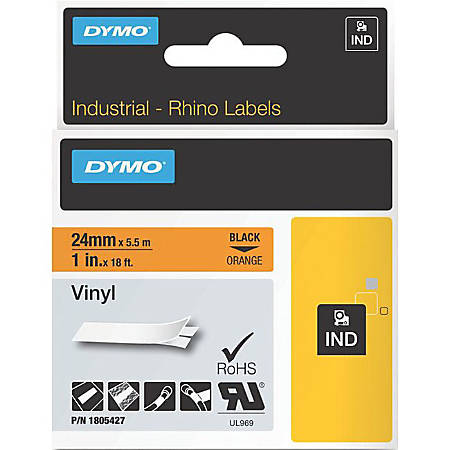 DYMO® Black on Orange Color Coded Labels, LJ7431