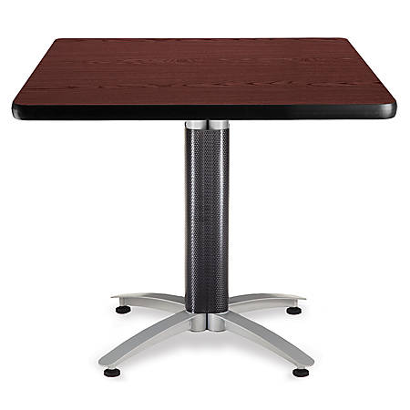 "OFM Multipurpose Table, Square, 36""W x 36""D, Mahogany"