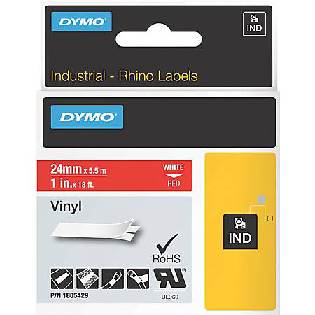 DYMO® White on Red Color Coded Label, LJ7427