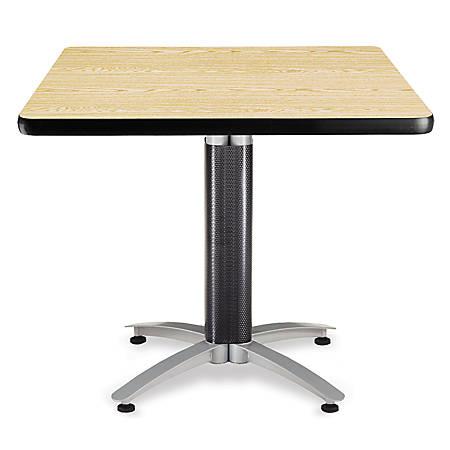 """OFM Multipurpose Table, Square, 36""""W x 36""""D, Oak"""