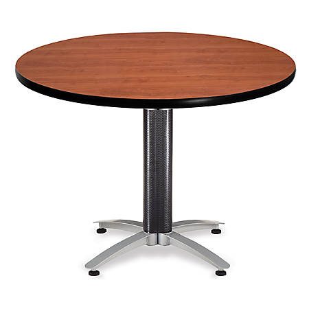 """OFM Multipurpose Table, Round, 42""""W x 42""""D, Cherry"""