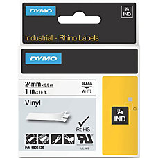 DYMO Black on White Color Coded